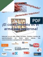 Cartel sobre educación Prepa en Línea SEP