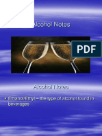 alcohol  101 notes