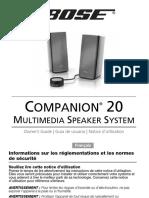 Notice Bose Companion 20