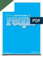 Ratecard People Magazine
