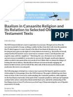 Baalism in Canaanite Religion and Its Relation to Selected Old Testament Texts _ Bible