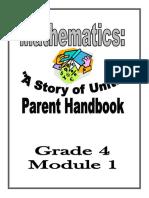 parent handbook grade 4 module 1