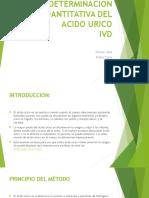 Determinacion Cuantitativa Del Acido Urico