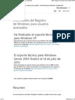 Información Del Registro de Windows Para Usuarios Avanzados