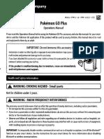 Pokémon Go Plus Manual