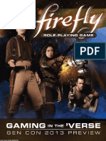Gaming in the Verse Firefly Gen Con 2013 Exclusive