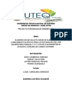 Proyecto PIS ELABORACIÓN DE GALLETA A BASE DE NUEZ