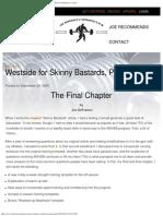 Westside for Skinny Bastards, Part III - Official Website of Joe DeFranco &