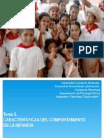 Caracterización del desarrollo infantil