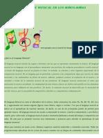 El Lenguaje Musical en Los Niños