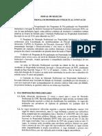 Edital de Mestrado INPI 2016