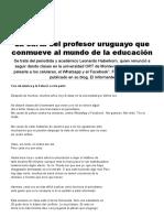 La Carta Del Profesor Uruguayo Que Conmueve Al Mundo de La Educación - Infobae