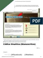 Códice Sinaítico (Manuscritos) _ Ministerio Puerta de Esperanza