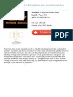 Handbook of Bolts and Bolted John Bickford Sayed Nassar Id5950