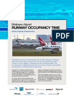 Brisbane Runway Occupancy Time
