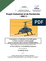 Conception Et Réalisation d Un Hélicoptère à Rotors Coaxiaux Contrarotatifs Pour Le Concours Micro Drones ONERA DGA