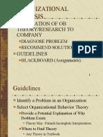 Organizational Analysis MGT 320 Arizona State University