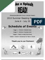 2010 Summer Reading Program