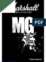 Marshall MG Amp Manual