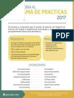 Convocatoria Al Programas de Prácticas 2017