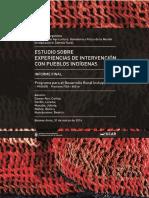 Estudio Sobre Experiencias de Intervención Con Pueblos Indigenas