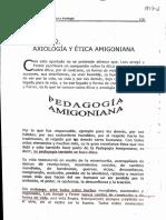 Axiologia y Etica Amigoniana