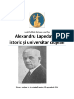 Alexandru Lapedatu – istoric și universitar clujean