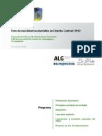 Foro de Movilidad Sustentable en Distrito Central 2012