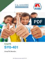 CompTIA Network+ SY0-401 Latest Braindumps, 100% pass guarantee