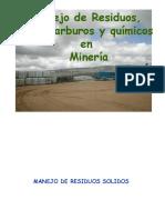 Manejo de Residuos Solidos, Hidrocarburos y Quimicos en Mina