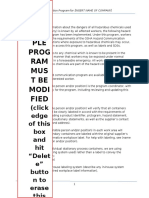 Sample Written Hazard Communication Program