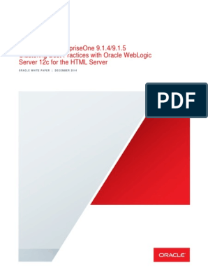 914 E1 WebLogic12c Clustering-JAS | Web Server | Computer