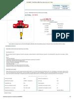 Ref_ 99534 - Talha Elétrica 500 KG de Cabo de Aço Com Trolley