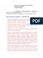 Exercicios de Fixacao IP 02 Sequencial