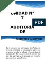 Auditoría de Servicios