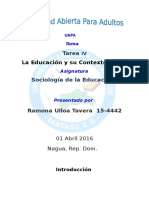 Tema IV Sociologia de La Educacion Tema 4