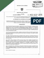 Decreto 1474 Del 15 de Septiembre de 2016