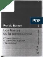 Ronald Barnett - Limites de La Competencia 8