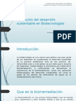 Aplicación Del Desarrollo Sustentable en Biotecnologías