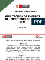 Guía Técnica de Eventos Minsa 2015