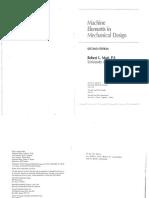 Machine Elements in Mechanical Design 2nd EdMott