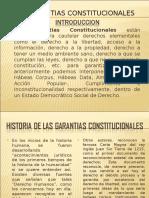 GARANTÍAS CONSTITUCIONALES