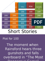 Short Stories Jeopardy