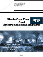 Studies of the shale gas fracturing impact among the environment