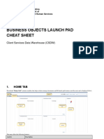 Business Objects BI Launchpad Cheat Sheet