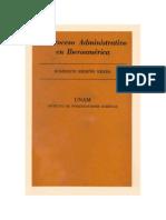 El Proceso Administrativo en Iberoamérica - Humberto Briseño Sierra. Impreso en Mexico; Ed. 1968