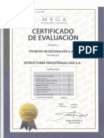 Certificado - Técnicos en Decoración S.a.C.