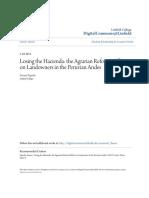 Fajardo (2013) Losing the Hacienda - Effect of AR in Landowners in Peru