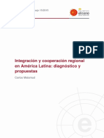 Malamud C. 2015. Integración y Cooperación Regional en América Latina