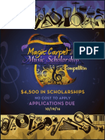 2016 Music Scholarship Application